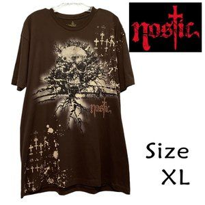 Nostic Men's All Over Graphic Logo TShirt Size XL
